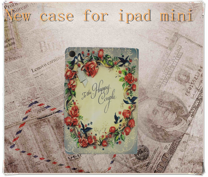 New fashion leather stand cover for ipad mini smart cover case factory price
