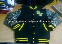varsity jackets with camo sleeevs