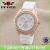 Luxury silicone with nature diamond watch promotional gifts