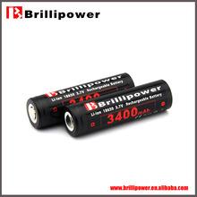 Brillipower li-polymer battery 3400mah high capacity 18650 battery