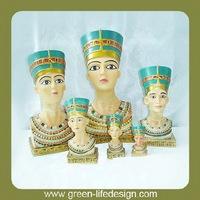 Resin pharaoh heads in many sizes