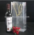 Bottle bag with size 10x10x35cm as fancy wine gift bag