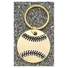 Baseball Key Chain/Sprots keyrings For promotion/gold plated ball key ring