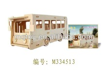 2013 Novelty 3D Wood building Puzzle educational toy wooden toy made in china promotional gift
