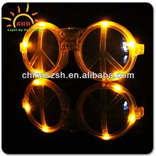Hot Sale LED Peace Sunglasses For Party