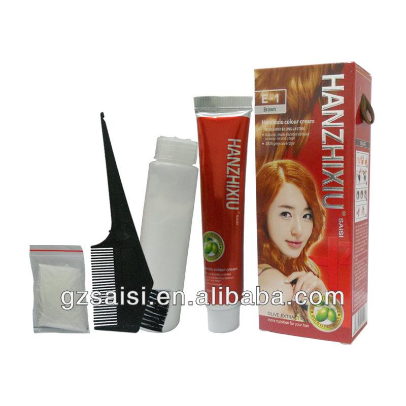 تصدير الساخنة!! للاستخدام الشخصي 60mlx2 الزيتون كريم لون الشعر