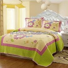 Applique Flower Orange Queen Comforter HLK021