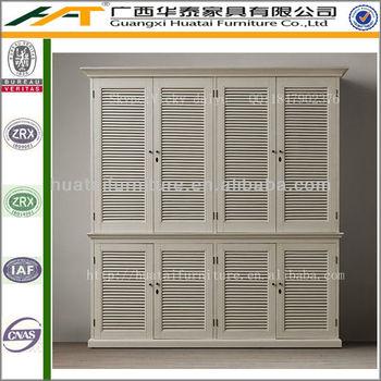 Latest design shutter cabinet bedroom furniture double for Bedroom wardrobe shutter designs
