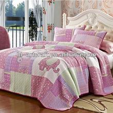 Applique Pink Elephant Cheap Comforter Sets HLK020
