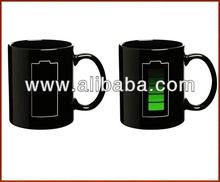 2013 New animated battery coffee mug battery changing mug
