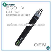 2013 1200mah passthrough e cigarette ego v v3 mega with LCD diplay showing atomizer resistance,voltage,variable voltage ego v3