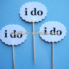 Best Selling Custom Shape & Printing Flag Toothpicks Cupcake Toppers Sticks Picks