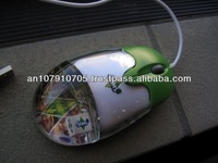 advertising specialty liquid mouse , logo inside optical mouse