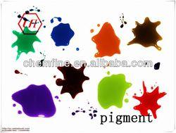 enamel pigment--glass semi-transparent