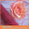 Burgundy Flower Wraps Mesh/floral Wraps