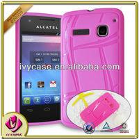 cheap pink soft TPU skin case cover for alcatel 4030d