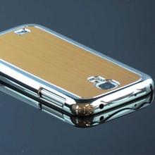 Luxury brushed aluminum gold chrome hard case for samsung galaxy s4