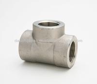 Stainless steel high pressure equal tee pipe fittings