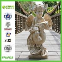 Decorative Craft Polyresin Figurine Garden Sitting Resin Angel