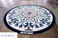 Nova mármore medalhão de piso de carpete.