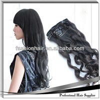 cheapest clip in human hair extensions,brazilian deep wave pony-tail hair style clip