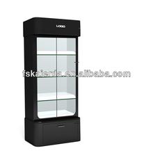 Lockable Living Room Modern Glass Display Cabinet