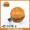 free sample hamburg food shape usb flash drive 4gb promotional