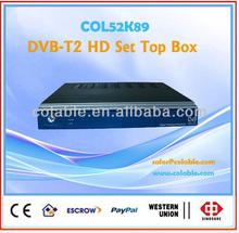 hd tv dvb-t2 set top box MPEG-4 AVC/H.264 WMA,MP3,AAC satellite tv decoder hd.COL52K89