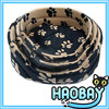 Round Soft Fleece Paw Prints Cheap Cute Dog Pet Beds