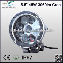 "2014 New Model, 45W Cree 5.5"" 9-30V 3060lm ip67 pen work light"