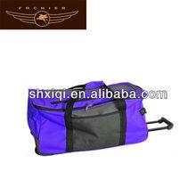 purple polyester 2014 big trolley bags travel bag