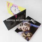 Offset printing sample leaflet