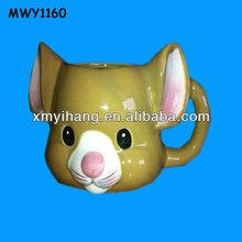 Big ears cat 3d Mug Ceramic Mug Animal Mug