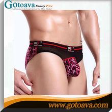Leopard print ice personality mesh yarn mens sex boxer shorts