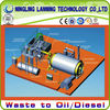 Newest technology used tyre/plastic/rubber processing pyrolysis to oil machine