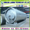 Environmental protection scrap tyre/plastic/rubber processing pyrolysis to raw oil equipment
