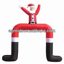 Custom design cheap inflatable santa archway, inflatable entrance arch for Christmas party S8019