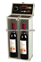 Fashionable high-end Wine Case 2 bottles with corkscrew