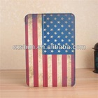 Hot Products!!! 360 degree rotation us flag case for ipad mini