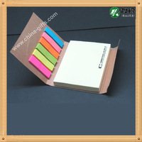 Die-cut smiling face notepad with page markers index