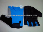 CYCLING GLOVES LIGHT BLUE & BLACK Amara Cilicon, Mesh With Foam,