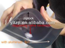 Aluminium packaging coffee bag.quad seal foil coffee bag. one way valve aluminium coffee