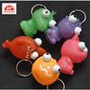 ICTI certificated custom make novelty plastic squeeze pop eye animal toy key chain