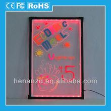 2014 magnetic Transparent led Writing Board;full color led advertising board