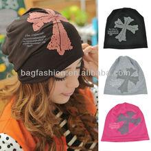 Funny Women's hat Cross Beanie Hat Skull Cap Ski Knit Winter Hat