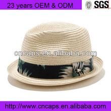 Wholesale alibaba fashion straw shaped felt fedora hat