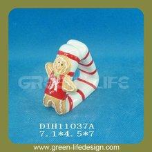 Ceramic christmas wholesale napkin rings