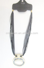 Newstyle cheap jewelry ring shaped necklace with black cord