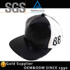 Fashion New design Suede leather white and black embroidery fitted snapback cap