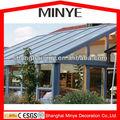 Excellen tthermal de freno de aluminio y de madera de roble perfil triple cristal terraza acristalada / casa / jardín casa / calor sistema para fría